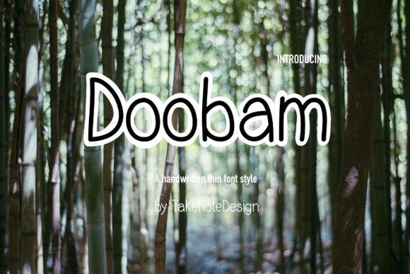 Print on Demand: Doobam Script & Handwritten Font By TakeNoteDesign