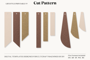 Earrings Template Cut File Graphic Crafts By Lifestyle Craft Co 2