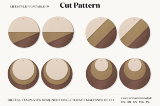Earrings Template Cut File Graphic Crafts By Lifestyle Craft Co
