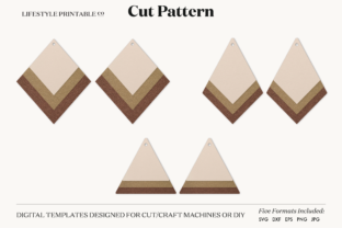 Earrings Template Cut File Gráfico Crafts Por Lifestyle Craft Co