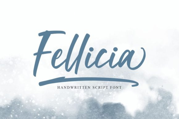 Print on Demand: Fellicia Script & Handwritten Font By Ditatype