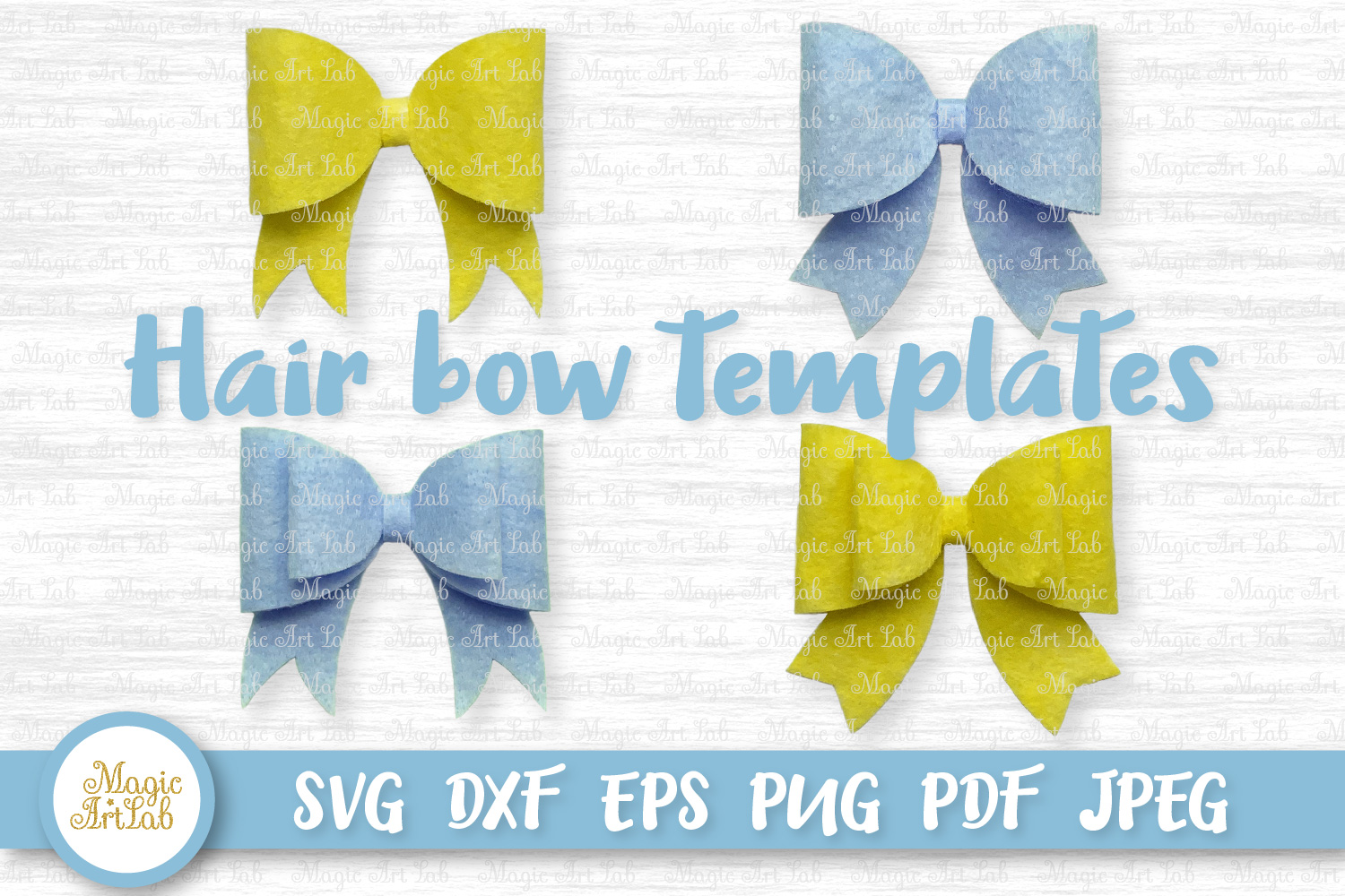 Hair Bow Templates SVG File