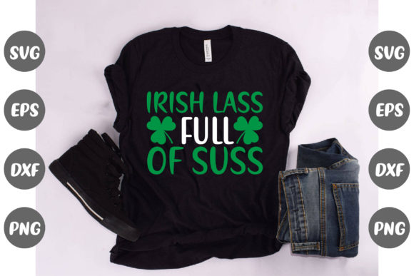 Print on Demand: Irish Lass Full of Suss Graphic Illustrations By Design Store Bd.Net