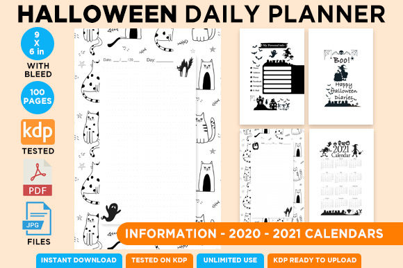 KDP Interior Halloween Dotted Pages Vol6 Graphic