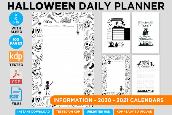 KDP Interior Halloween Dotted Pages Vol8 Graphic