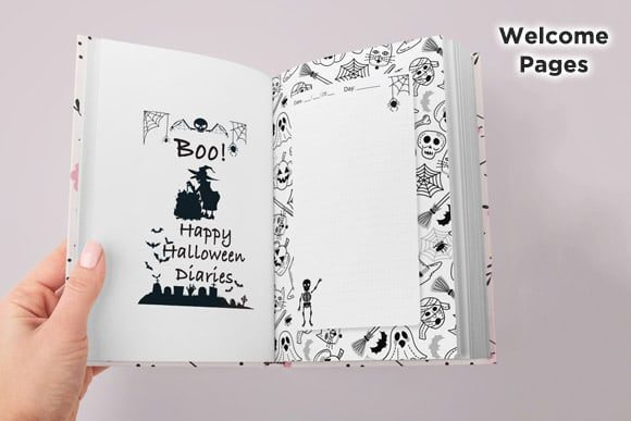 KDP Interior Halloween Dotted Pages Vol8 Graphic Item