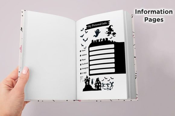 KDP Interior Halloween Dotted Pages Vol8 Graphic Preview