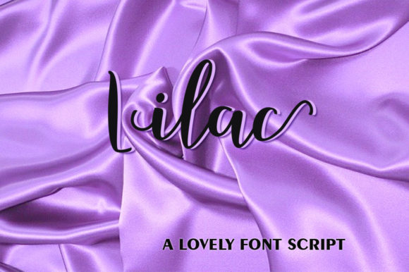 Print on Demand: Lilac Script & Handwritten Font By Querencia Heart