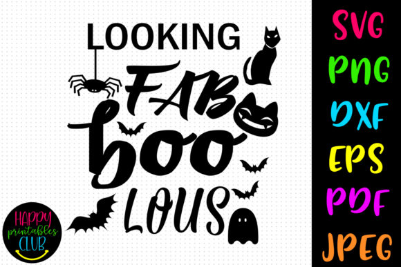 Print on Demand: Looking Fab BOO Lous Halloween Graphic Crafts By Happy Printables Club