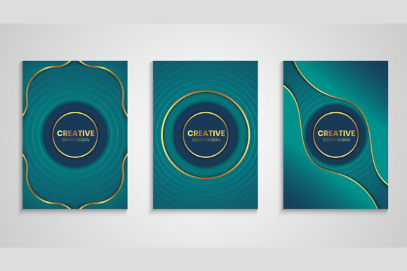 Luxury Cover Background with Wavy Shape Graphic Backgrounds By medelwardi