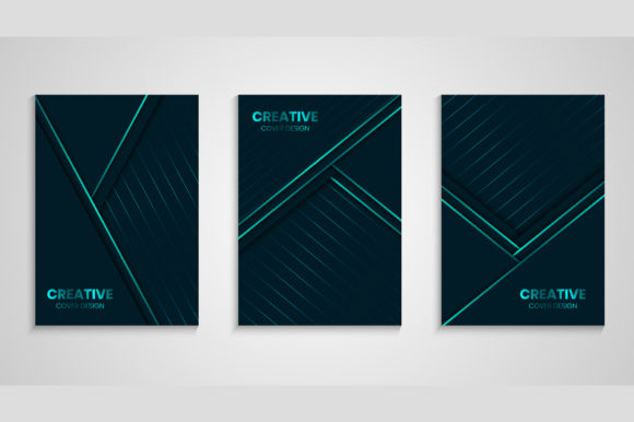 Luxury Cover with Overlap Layer Graphic Backgrounds By medelwardi