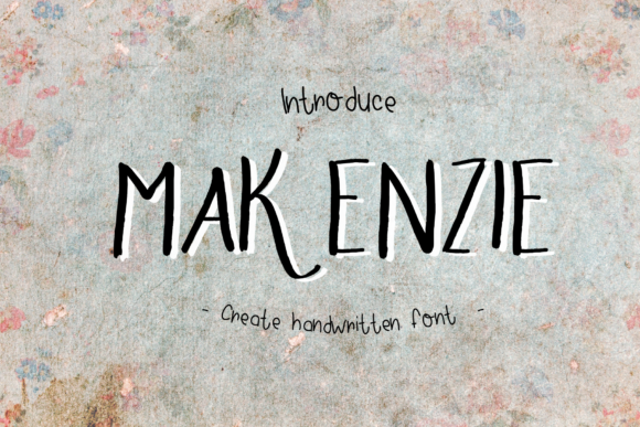 Print on Demand: Makenzie Script & Handwritten Font By ChunnapaStudio