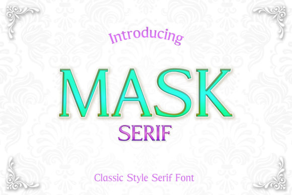 Print on Demand: Mask Serif Font By numnim
