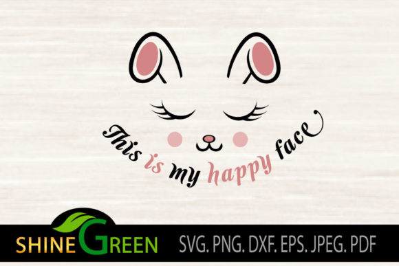 Print on Demand: Mask - Kids Face Mask - Happy Face Graphic Crafts By ShineGreenArt