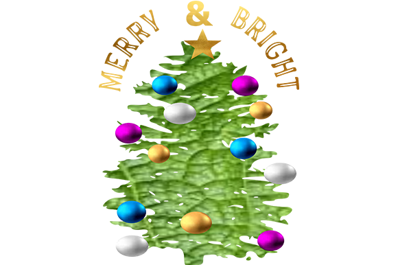 Print on Demand: Merry & Bright 2 Graphic Illustrations By arts4busykids