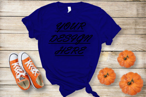 Mockups Blue Tshirts, Flat Lay Graphic Product Mockups By ArtStudio