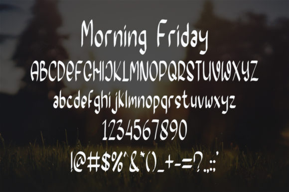Morning Friday Font Preview
