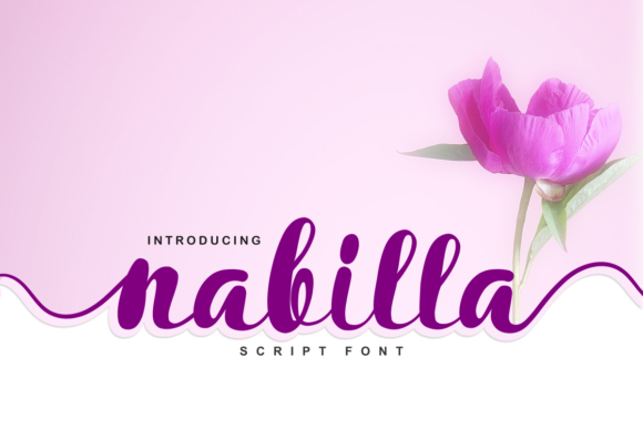 Print on Demand: Nabilla Script & Handwritten Font By estede75