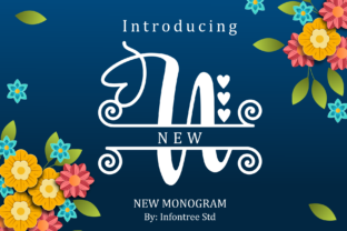 Print on Demand: New Monogram Decorative Font By Infontree