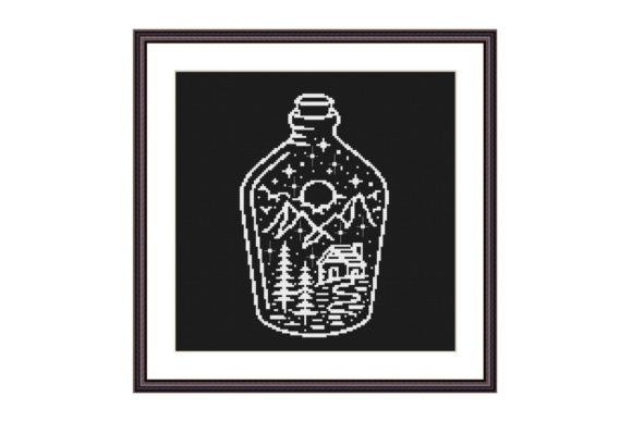 Night at the Bottle Cross Stitch Pattern Graphic Cross Stitch Patterns By e6702