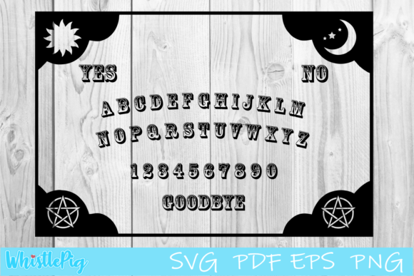 Print on Demand: Ouija Board Ouija Game Ouija Layout Graphic Crafts By Whistlepig Designs