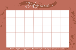 Print on Demand: Pink Study Schedule Graphic 11th grade By arts4busykids