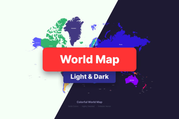 Political World Map & Countries Graphic Illustrations By Shemul