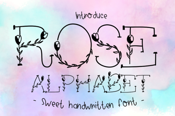 Print on Demand: Rose Alphabet Decorative Font By ChunnapaStudio