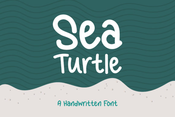 Print on Demand: Sea Turtle Script & Handwritten Font By Wanida Toffy