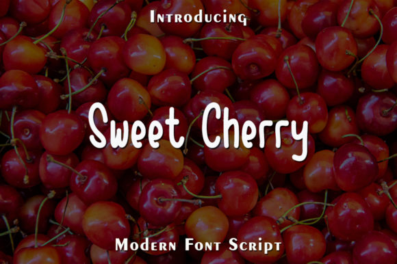 Print on Demand: Sweet Cherry Script & Handwritten Font By rangkaiaksara