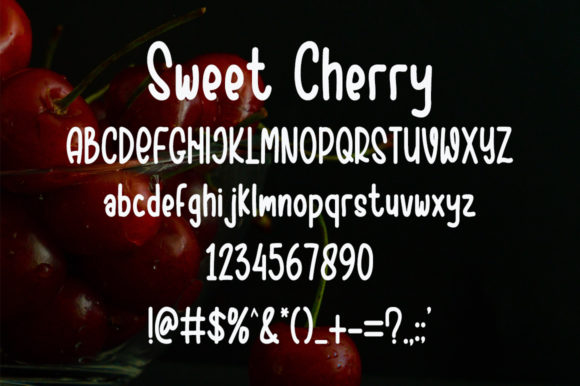 Sweet Cherry Font Preview