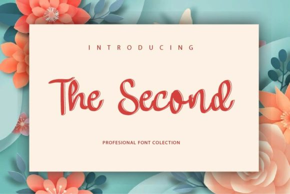 Print on Demand: The Second Script & Handwritten Font By mizanstudio