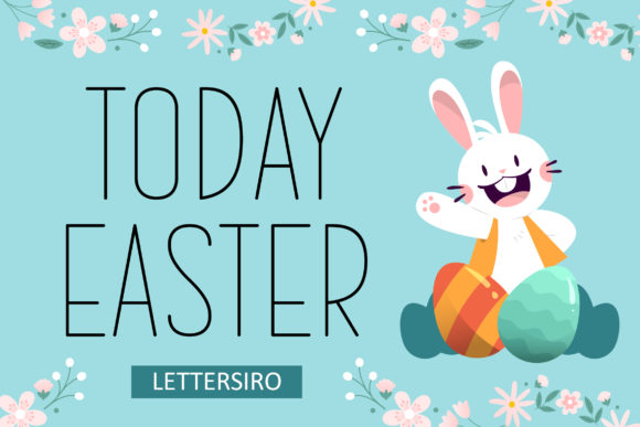 Print on Demand: Today Easter Sans Serif Font By Lettersiro Co.