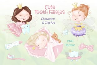 Tooth Fairies & Clip Art Graphic Illustrations By nicjulia