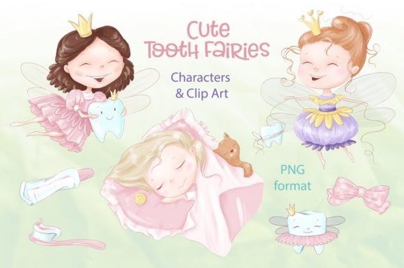 Print on Demand: Tooth Fairies & Clip Art Graphic Illustrations By nicjulia