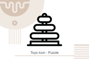 Toys Icon - Puzzle Graphic Icons By MelindAgency