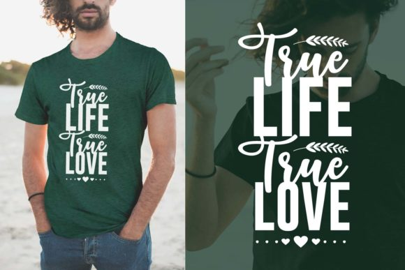 Print on Demand: True Life True Love, Inspiring Quotes Graphic Illustrations By Universtock