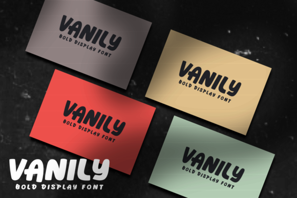 Print on Demand: Vanily Display Font By estede75