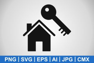 Print on Demand: Vector House Key Icon Graphic Icons By IYIKON