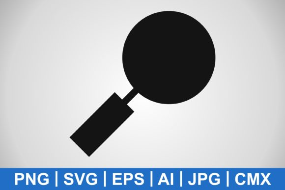 Print on Demand: Vector Magnifying Glass Icon Graphic Icons By IYIKON