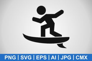 Print on Demand: Vector Surf Icon Graphic Icons By IYIKON