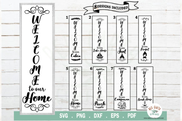 Welcome Porch Sign Making Bundle Graphic Crafts By redearth and gumtrees