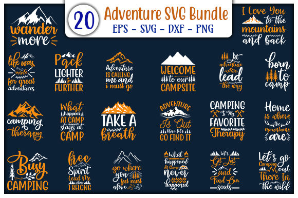 Print on Demand: Adventure Design Bundle Graphic Print Templates By GraphicsBooth