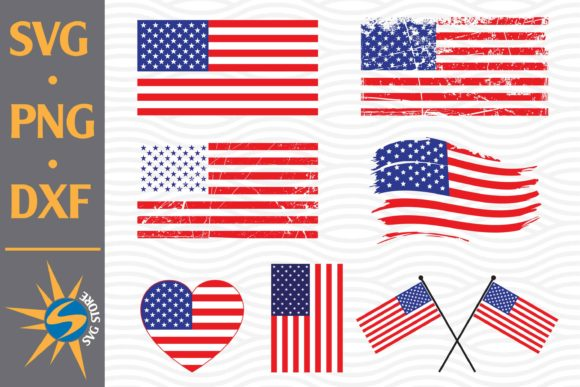 American Flag Graphic Crafts By SVGStoreShop