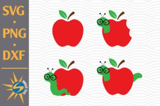 Print on Demand: Apple and Worm Graphic Crafts By SVGStoreShop
