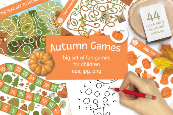 Autumn Games Grafik Illustrationen von lexiclaus
