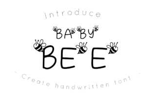 Print on Demand: Baby Bee Dekorativ Schriftarten von CSDesign