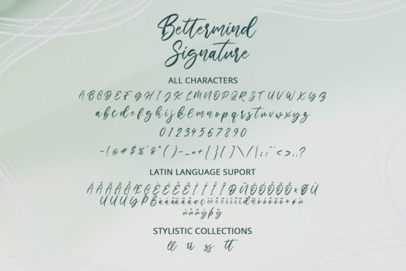 Print on Demand: Bettermind Signature Script & Handwritten Font By Din Studio - Image 2