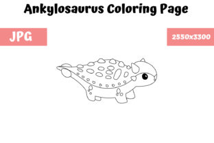 Print on Demand: Coloring Page for Kids - Ankylosaurus Graphic Coloring Pages & Books Kids By MyBeautifulFiles