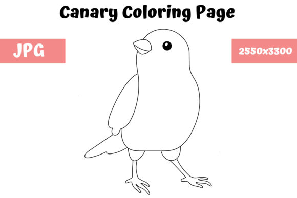 Print on Demand: Coloring Page for Kids - Canary Graphic Coloring Pages & Books Kids By MyBeautifulFiles